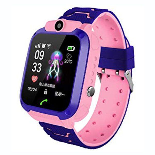 Smart Watch Q12 per femije me gps tracker ora dore femijesh pink elektronike