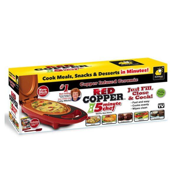 Tigan red copper 5 minute chef