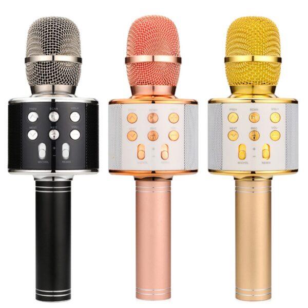 Mikrofon dore me Bluetooth Karaoke ne shitje online