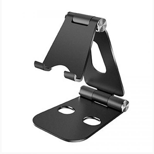 Mbajtese telefoni alumini   Black Phone Stand Table