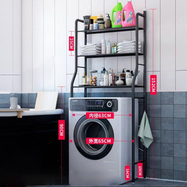 washing machine rack black shelf storage online ibuy al