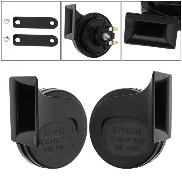 12V Black High Electric Bass Single Tone Snail Horn Suitable for Motorcycles Bicycles Automobiles buy online iBuy al