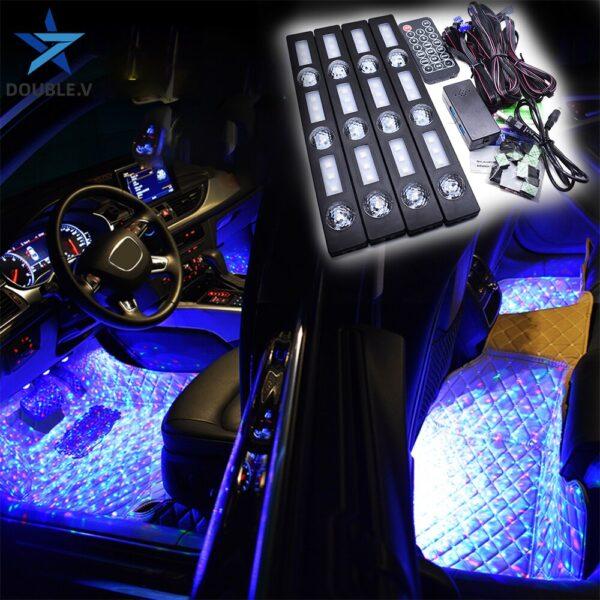 Car interior colorful ambient lights LED buy online iBuy al