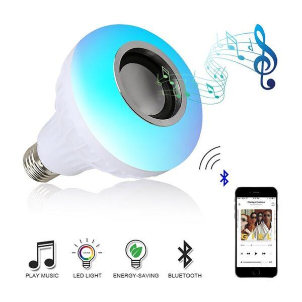 E27 Smart RGB Wireless Bluetooth Speaker Bulb Music Playing Online iBuy al