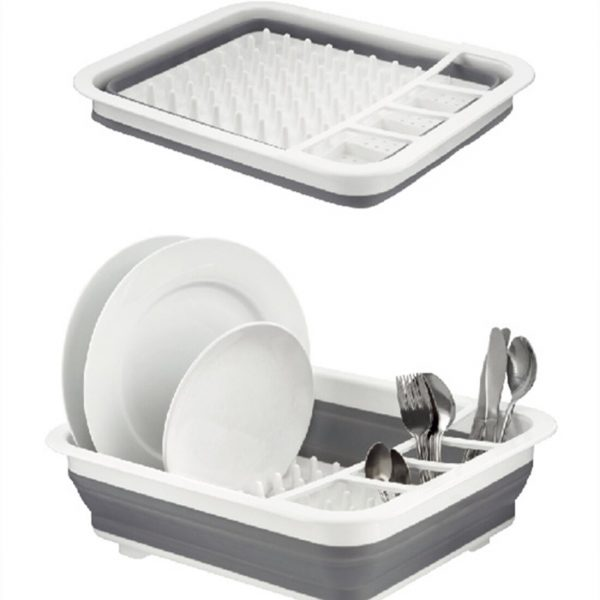 HIPSTEEN Foldable Tableware Draining Rack Cutlery Bowl Organizer Holder Storage Rack Plastic Storage Containers Kitchen iBuy al
