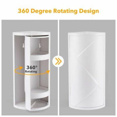Hartman Rotating Bathroom Corner Shelf Rack Organizer Bli Online iBuy al