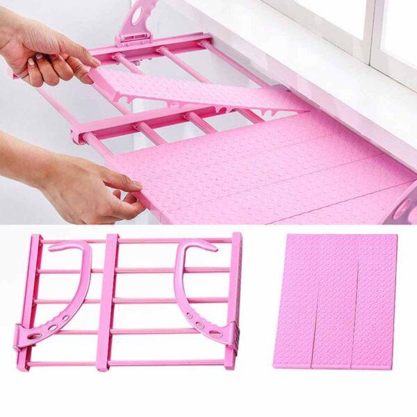 Multi function Hanging Window Sill Drying Rack Easy Folding Drying Rack Balcony Retractable Drying Shoe Rack Online iBuy al
