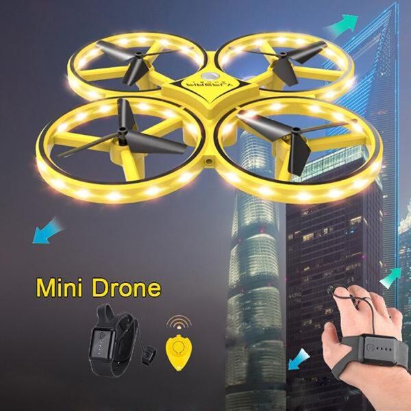 UAV Aircraft Toy UFO Flying Drone With Watch Wristband Control Quadrocopter iBuy al