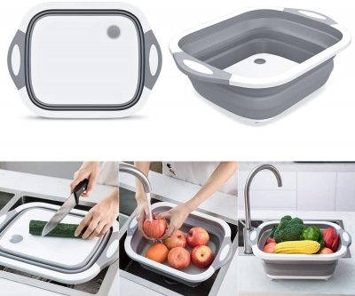 collapsible chop and strain cutting board buy online in iBuy al