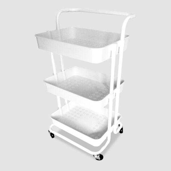 3 Tier Wheels Practical Handle ABS Storage online ibuy al