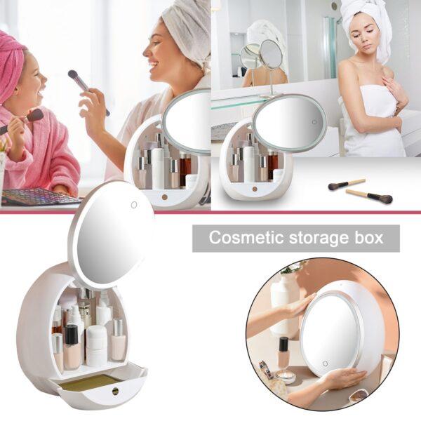 organizuese make upi dhe pasqyre me drita led ibuy al