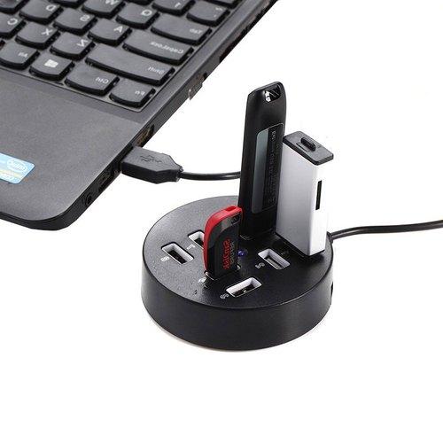8 Port USB 2.0 Portable Round Hub USB Adapter ibuy al