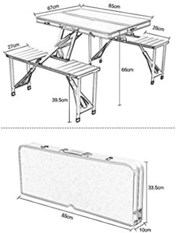 Set me tavoline dhe karrige per piknik