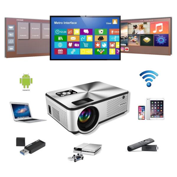 cheerlux c9 android video projektor bli online ne ibuy al